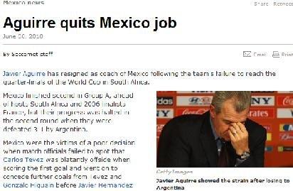 墨西哥主教练宣布辞职 四年换五帅致原地踏步