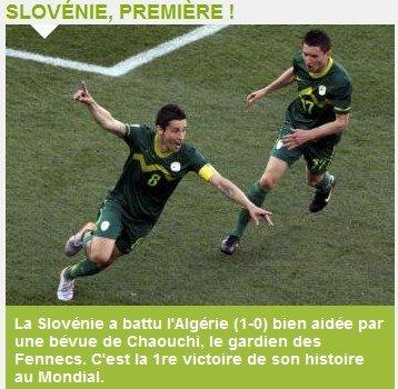 队报:斯洛文尼亚的世界杯首胜 队长科伦建功