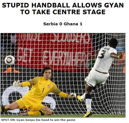 世界新闻报:得益愚蠢手球 加纳队成非洲焦点