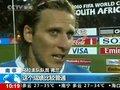 """视频:弗兰""""吻别""""世界杯 乌拉圭向往未来"""