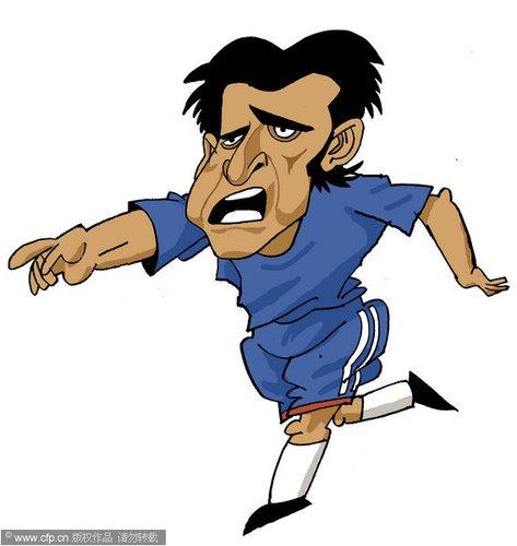 漫画:世界杯球星脸谱 亚昆塔