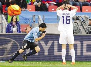 韩国1:2不敌乌拉圭 太极虎骄傲离开