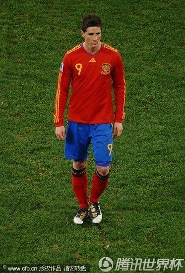 图文:西班牙VS葡萄牙 托雷斯被换下场_世界杯