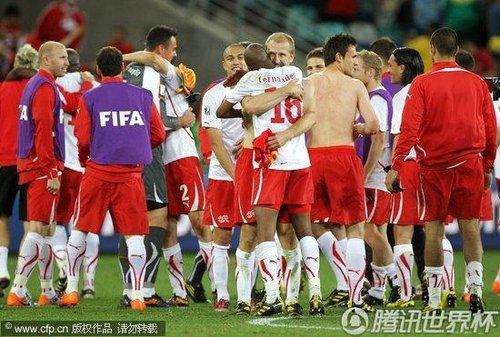 2010世界杯小组赛H组首轮:西班牙0-1瑞士