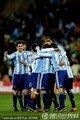 阿根廷球员庆祝进球