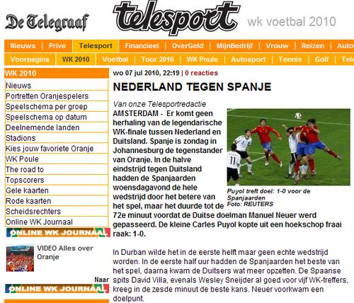 荷媒:德国溃败无缘决赛 荷兰失去报仇良机