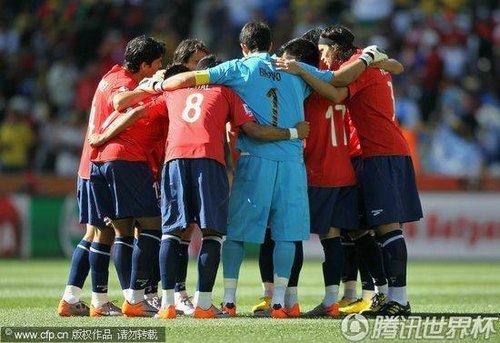 2010世界杯小组赛H组首轮:洪都拉斯Vs智利