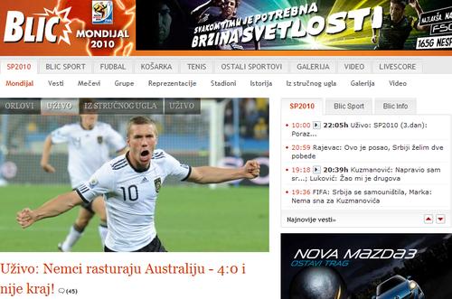 塞尔维亚媒体:德国有冠军相 小猪今天很低调