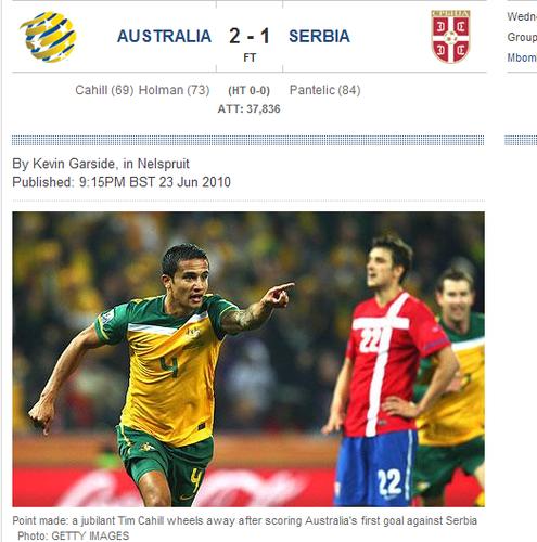 每日电讯:澳大利亚迟来的爆发 取胜亦要出局