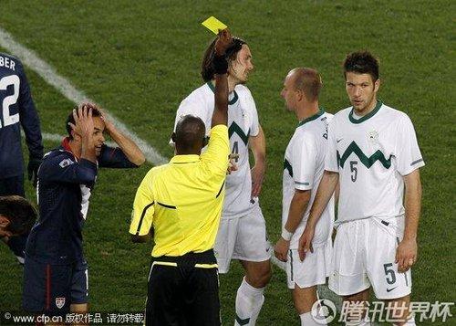 2010世界杯小组赛C组次轮:斯洛文尼亚2-2美国