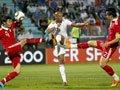 高清:热身赛国足1-0法国
