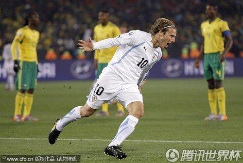 乌拉圭队前锋弗兰
