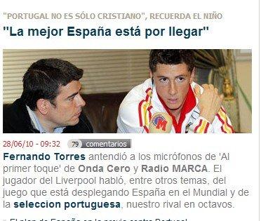 托雷斯:葡萄牙靠C罗没戏 我们能胜所有对手