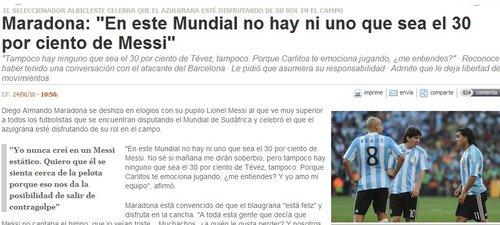 老马:没人能及梅西三成 愿意与穆里尼奥说球