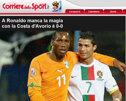 罗马体育报:C罗缺队友支持 葡队需新老交接