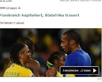 明镜周刊:南非获胜赢得尊严 与法国双双出局