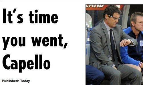 卡佩罗主动找英足总谈前途 出事总是我挨骂