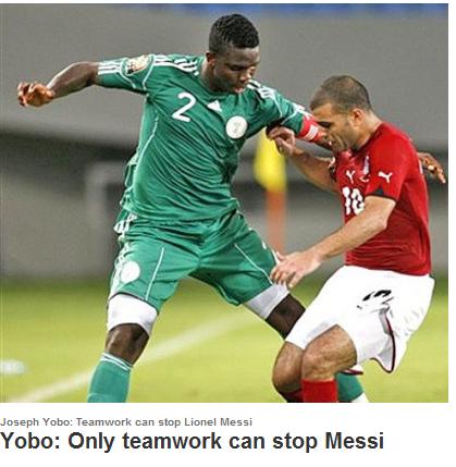 尼日利亚后卫:只有全队专注协作才能防住梅西