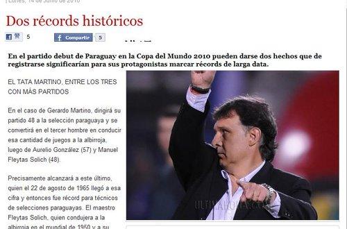 最后时刻报:两人两记录 巴拉圭逼平卫冕冠军