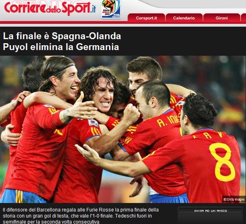 罗马体育报:半决赛输老对手 德国重演两悲剧