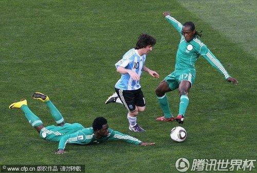 2010世界杯小组赛B组首轮:阿根廷Vs尼日利亚