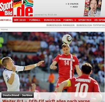 图片报:德国落败因战术问题 赛队出色应该赢