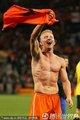 图文:荷兰3-2乌拉圭 库依特庆祝