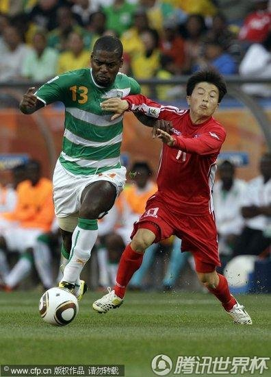 2010世界杯:科特迪瓦vs朝鲜