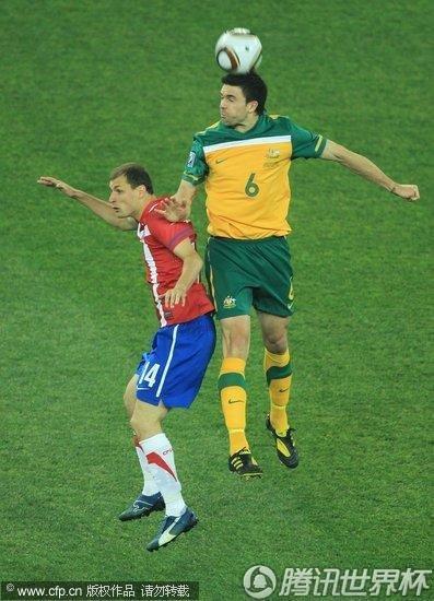 2010世界杯D组末轮:塞尔维亚1-2澳大利亚 双双淘汰