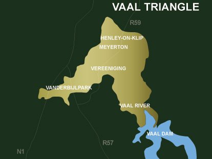 南非地理—瓦尔三角地区(Vaal Triangle)