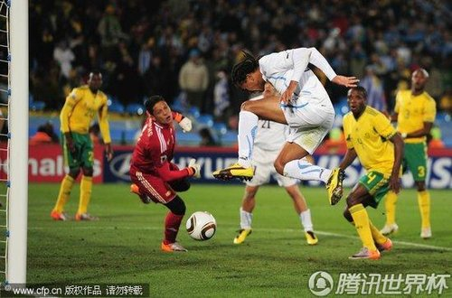 2010世界杯A组次轮:南非0-3乌拉圭