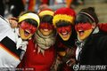 德国女球迷助威国足
