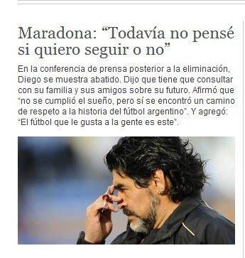 马拉多纳:我明天就可以辞职 坚持阿根廷之路