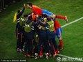 西班牙队员庆祝进球