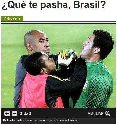 巴西末轮备战再生冲突 两大佬训练场挥拳互殴
