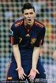 图文:荷兰0-1西班牙 比利亚与裁判交涉