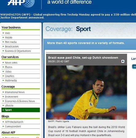 法新社:巴西荷兰成功会师 一场好戏即将上演