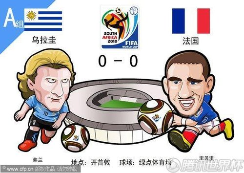 漫画:法国平10人乌拉圭 连续三届首轮不胜
