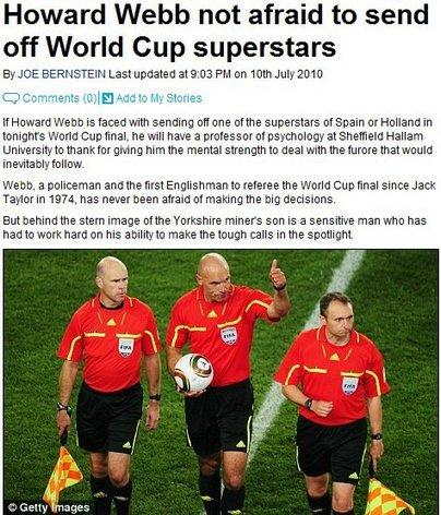 韦伯决赛只认规则不看球员 无惧向巨星亮红牌