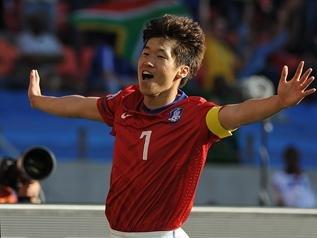 2010南非首胜韩国制造 李正秀朴智星双双进球