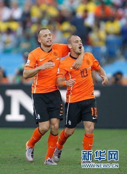荷兰1:0小胜日本领跑E组 斯内德重炮显神威
