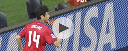 韩国2-0希腊 上半场回放