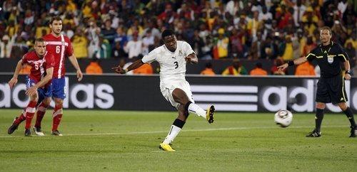 世界杯-加纳1-0绝杀 本届杯赛第一个点球诞生