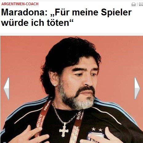 马拉多纳:我愿为球员而死 这是梅西的阿根廷