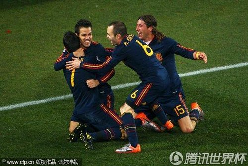 2010世界杯1/4决赛:巴拉圭0-1西班牙