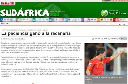 马卡报:西班牙坚韧耐力制胜 换下托雷斯明智