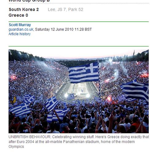 卫报:韩国队轻松胜 希腊队也创世界杯纪录?