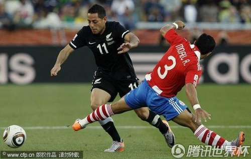 2010世界杯:巴拉圭vs新西兰