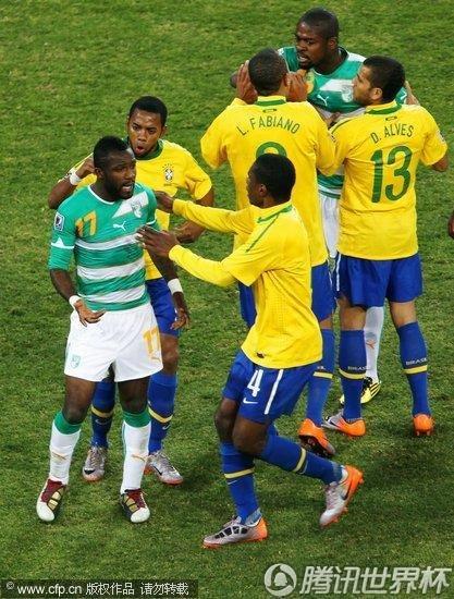 2010世界杯小组赛G组次轮:巴西Vs科特迪瓦