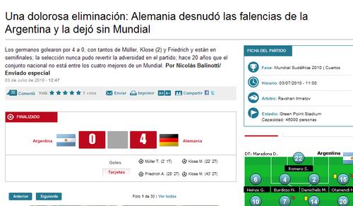 阿媒:阿根廷死于受挫太少 世界杯已属于欧洲